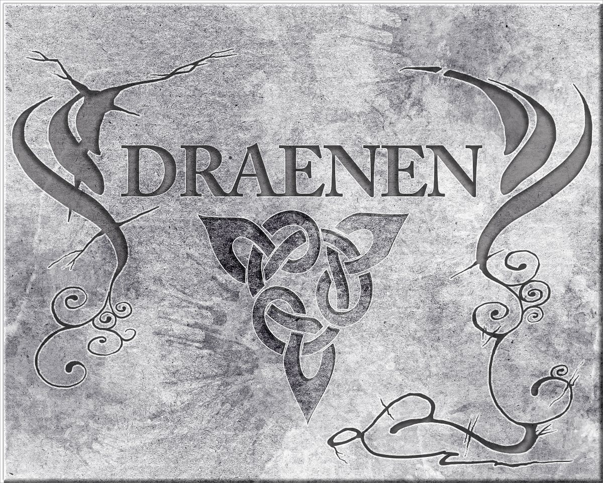 DRAENEN stone headpiece over entrance