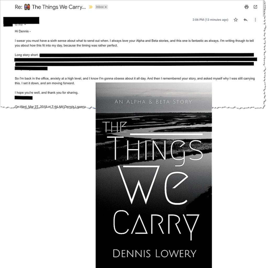 READER COMMENT (AD) ABOUT The Things We Carry 3-27-2019